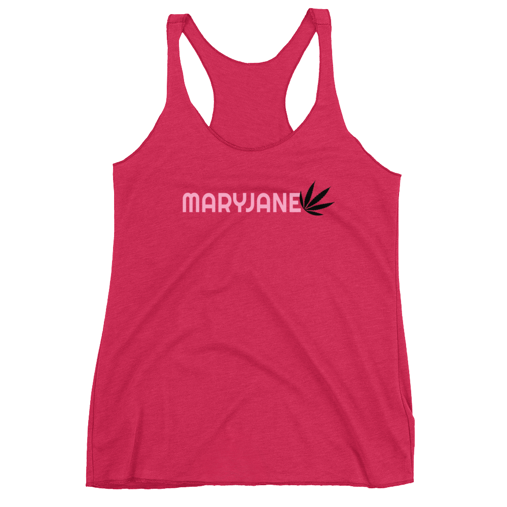 Maryjane Black&Pink Racerback Tank - Mind . Body . Spirit . Mana - Cannabis Marijuana Lifestyle Women's Clothing