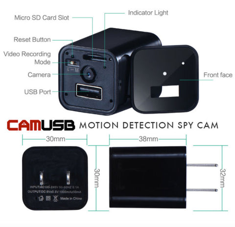 MINI Spy USB Charger Camera