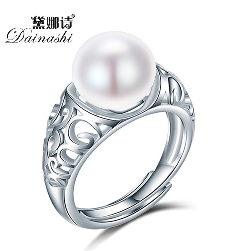 Dainashi Adjustable Pearl Rings, Women's Pearl Ring, Women's Pearl Rings, Pearl Rings, Natural Freshwater Pearl Ring, Pearl Rings for Women, Pearl Rings for Ladies, Sterling Silver Ring, Ring, Rings for Girls, Rings for Women, Jewelry, Fine Jewelry from watchalternative.com