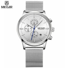 Aviator Men's Dress Watch, Chronograph Luminous Watch, Megir Watch, Chronograph Watches, Mens Watches, Watches for Women from watchalternative.com - Free Shipping.