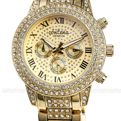 Designer Contena Women's Dress Watches with Rhinestones, Women's Dress Watches, Dress Watches, Luxury Watches for Women, Ladies Dress Watches