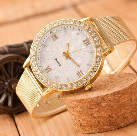 Diamond Dress Watch for Women, Genvivia Women's Dress Watch, Genvivia Diamond Dress Watch for Ladies, Gold Watch for Women, Women's Gold Watch with Diamonds, Dress Watches, Luxury Watches for Women, Ladies Dress Watches
