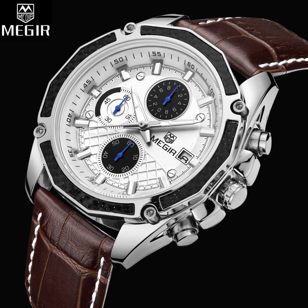 MEGIR Men's Chronograph Watch, Dress Watches, Mens Watches from watchalternative.com - Free shipping