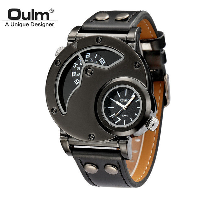 Two Time Zone Unique Men Watch