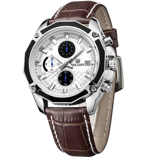 MEGIR Chronograph Luminous Sport Men Wrist Watch., Dress Watches, Mens Dress Watches from watchalternative.com - Free shipping