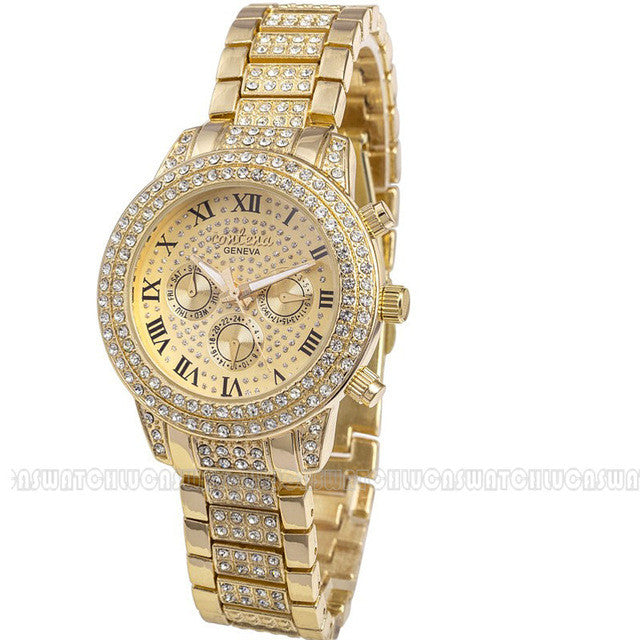 Gold Watch with Diamonds, Gold Watch for Women, Women's Gold Watches, Designer Watches for Women