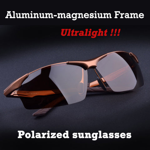 Aluminum Magnesium Polarized Sunglasses, Ultra-light Polarized Sunglasses,