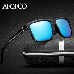 New Men's Square Polarized Sunglasses