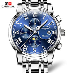 Carnival Tourbillon Luxury Multi-function Luminous Mechanical Watch