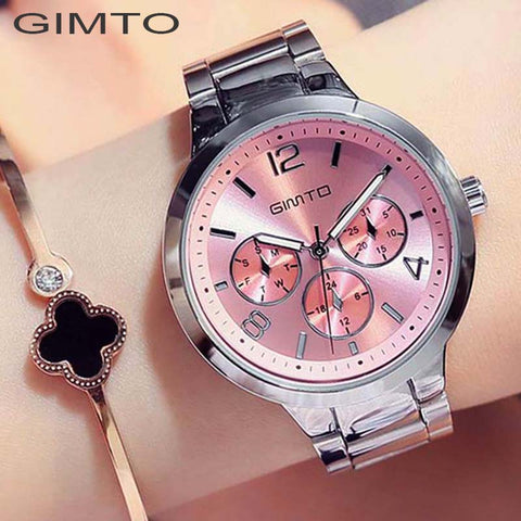 Stainless Steel Chronograph Dress Watch
