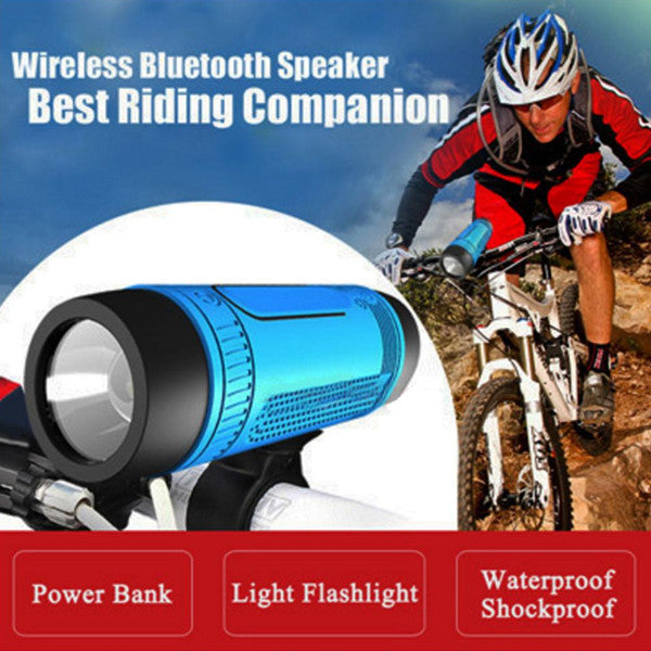 Waterproof Bluetooth Speaker for Bicycle, SOS Light for Bicycle, Torch for Bicycle, Bike Emergency Lights, Bike Torch, Bike Speaker