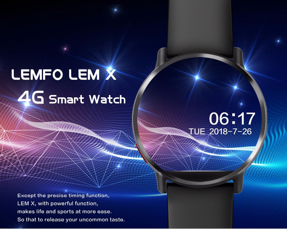 The Ultimate LEMFO LEM X Android 7.1 4G Smartwatch with 900Mah High Capacity Battery