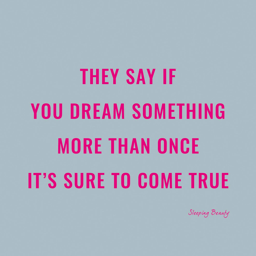 If You Dream Something