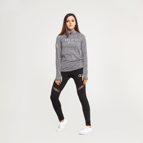 Olco athleisure sports top (light grey)