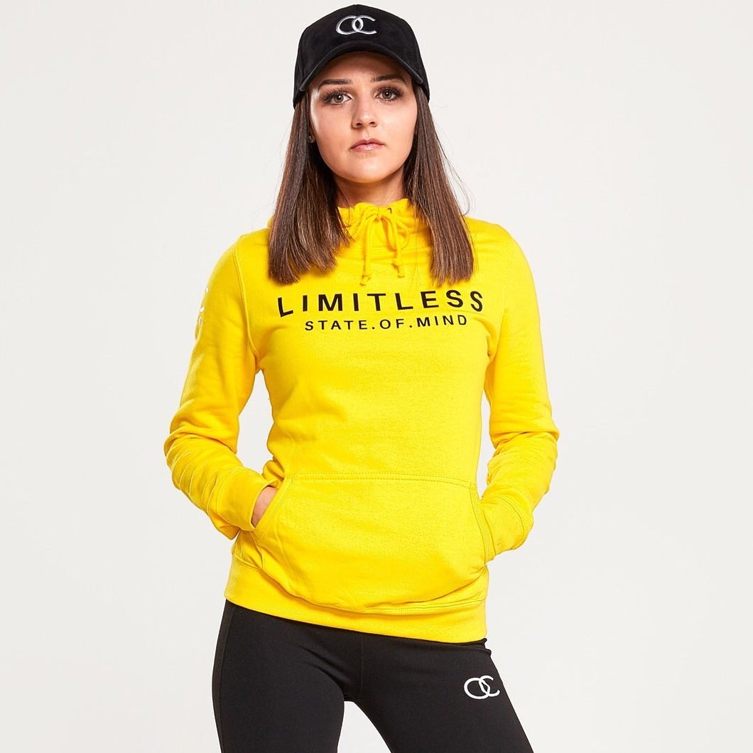 Limitless hoodie (yellow size small)