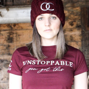 unstoppable tee (burgundy size XL)