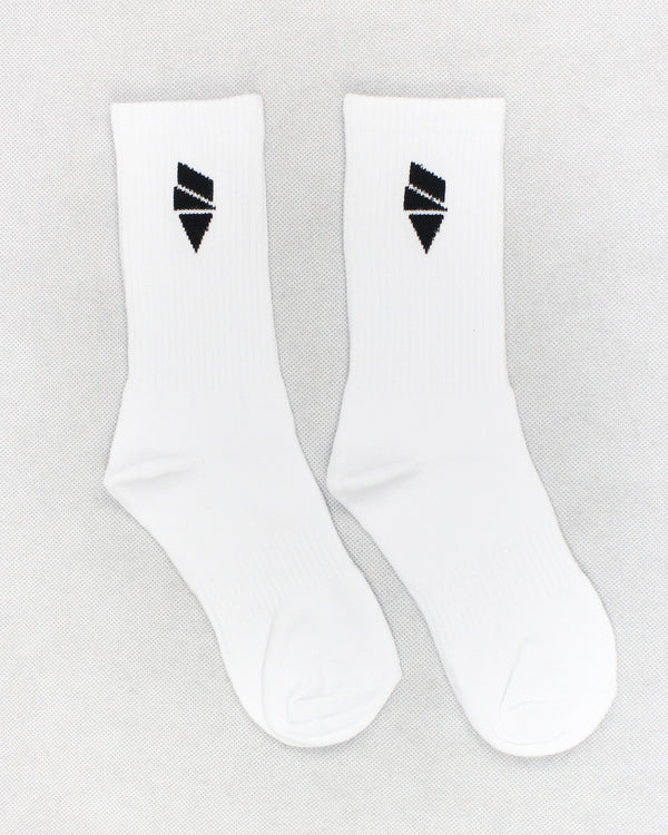 Mens Distance White Socks