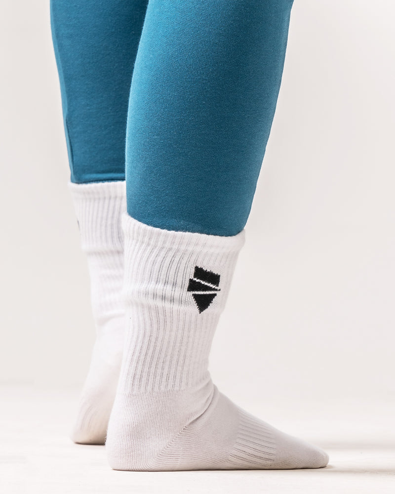 Distance White Socks