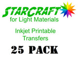 StarCraft Inkjet Printable Transfers for Light Materials