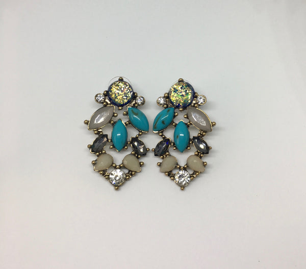 Crystal & Mix Stone Earrings