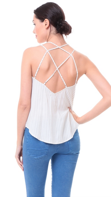 BACK MULTI STRAP SURPLICE TOP
