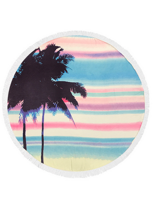 Palm Tree Rainbow Terry Beach Towel
