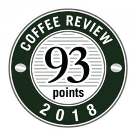 coffee review score badge