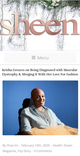 Sheen Magazine Interview with Keisha Greaves