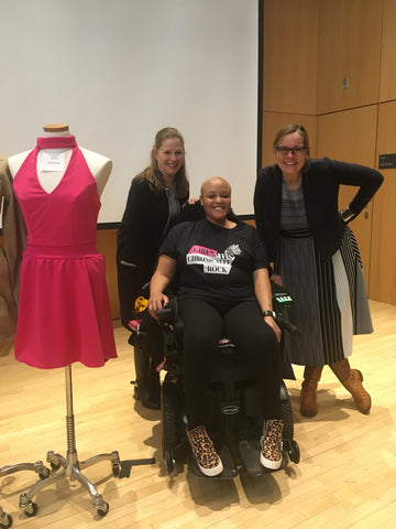 Keisha Greaves with students at Framingham State