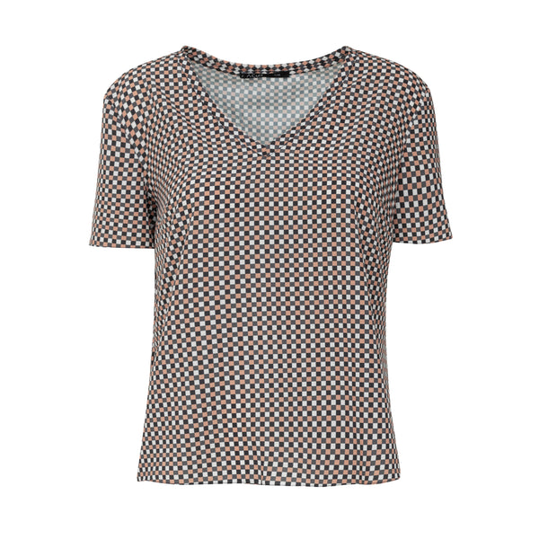 BLUSA ALPHORRIA 099125TEX T-SHIRT COURTNEY MICRO XADREZ