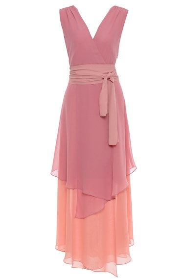 VESTIDO AMISSIMA 1265 MULTICOLOR ROSE