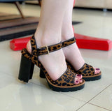 SANDALIA CARRANO 139438 HONEY BLACK LEOPARDO