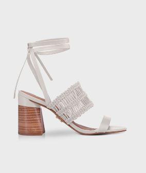SANDALIA CARRANO 183001 OFF WHITE CORDAS