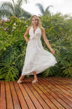 VESTIDO ANNIE PESTANA VE21104 LAISE MIDI OFF WHITE