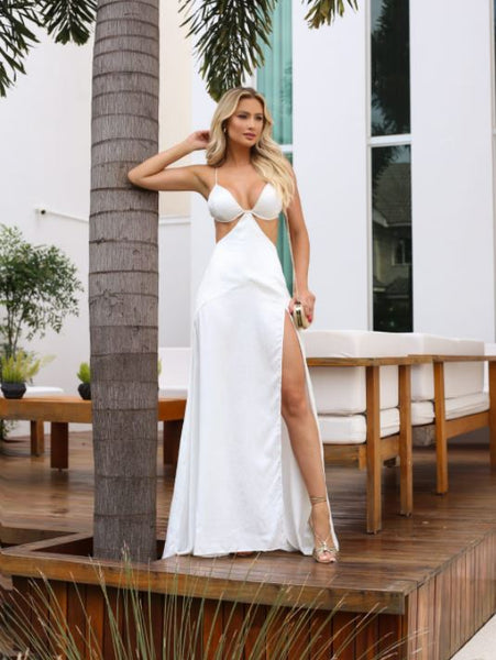 VESTIDO CLOUDE 04719.007 BIBI OFF WHITE