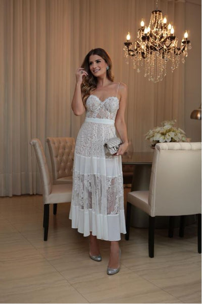 VESTIDO CLOUDE 366402007 SAMIRES OFF RENDA
