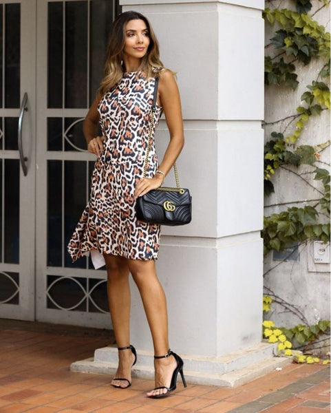 VESTIDO FORTINA VT00196EL ANGELA ANIMAL PRINT ONÇA