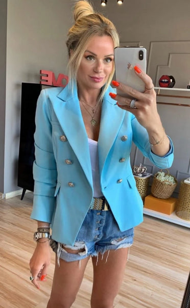 BLAZER MUSE GOLD LABEL 696 MONA AZUL