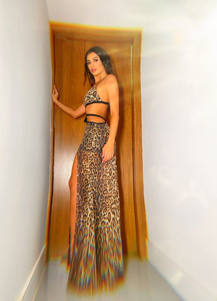 VESTIDO CLOUDE 04786080 LANA ANIMAL PRINT