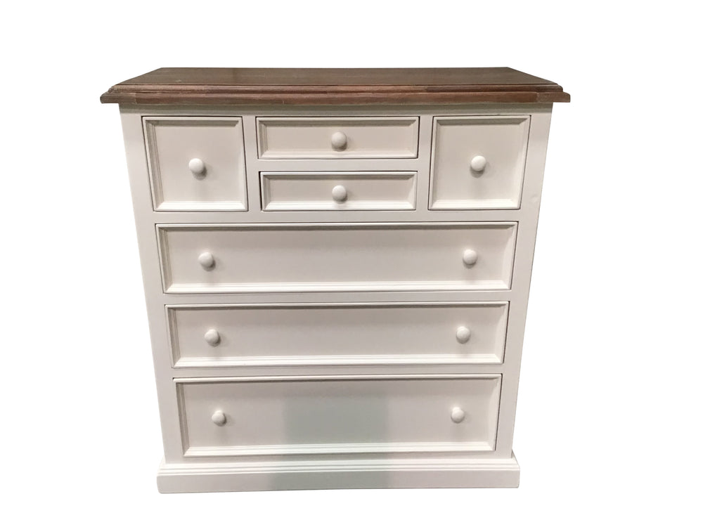 Biarritz Off White 7 Drawer Chest Clearance Furnitureclearance Ie