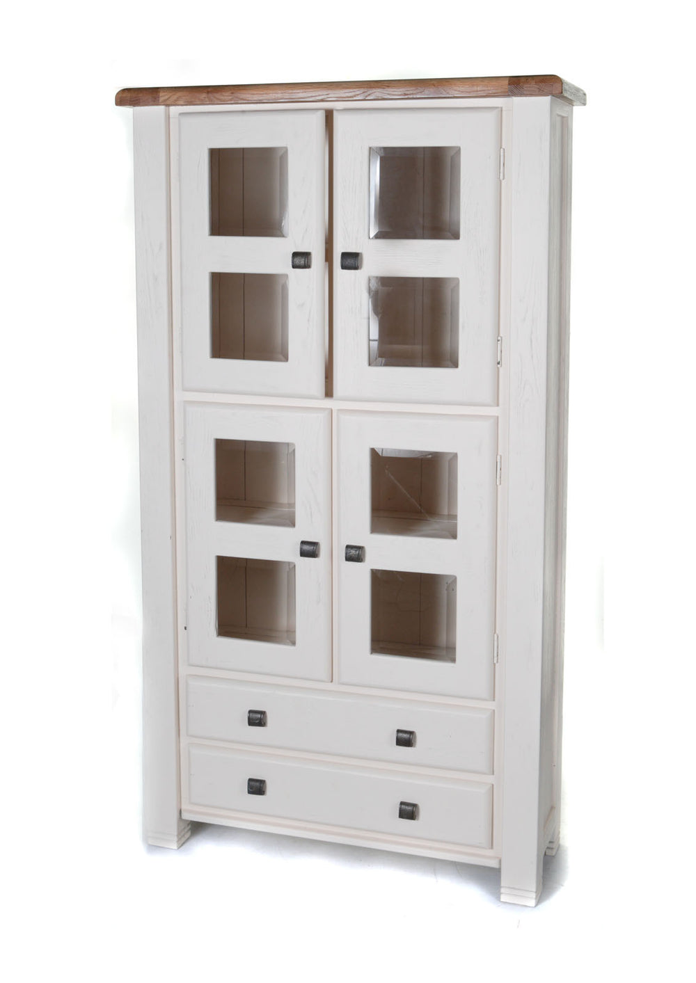 Danube oak white display cabinet by Furniture Clearance - discounted furniture for Ireland