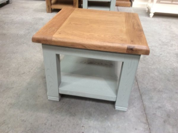 Danube oak square lamp table - Shop Return