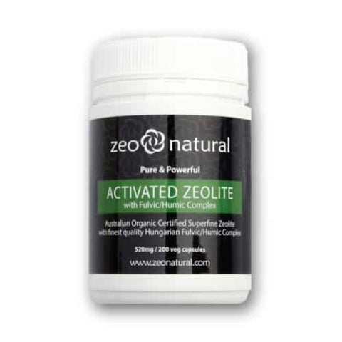 Activated Zeolite (Clinoptilolite) + Fulvic/Humic Acid Capsules