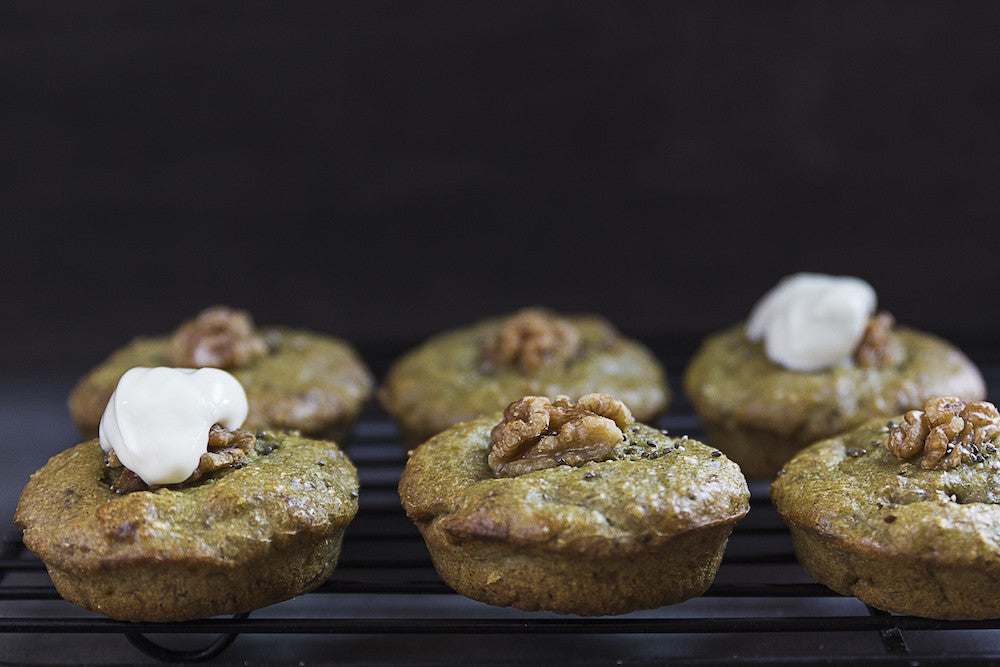 Green Goodness Banana Muffins
