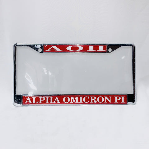Sorority License Plate Cover