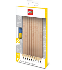 LEGO® 9-Pack Graphite Pencils