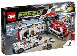 Lego Speed Champions Porsche 919 Hybrid and 917K Pit Lane 75876 brickskw bricks kw kuwait