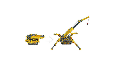 Technic Compact Crawler Crane 42097 2in1-4