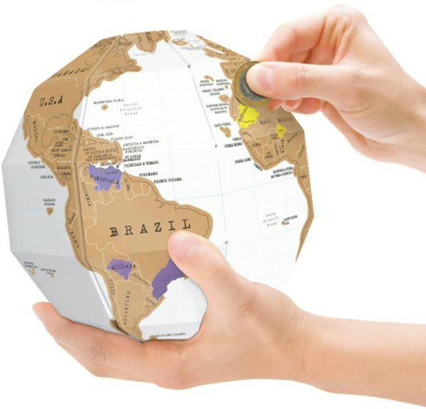 3D Scratch Globe Scratch Off World Map lego kuwait online brickskw bricks kw store