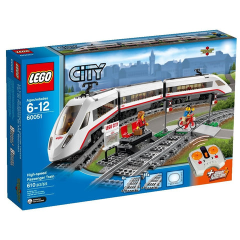 LEGO City Trains High-speed Passenger Train 60051- brickskw bricks kuwait